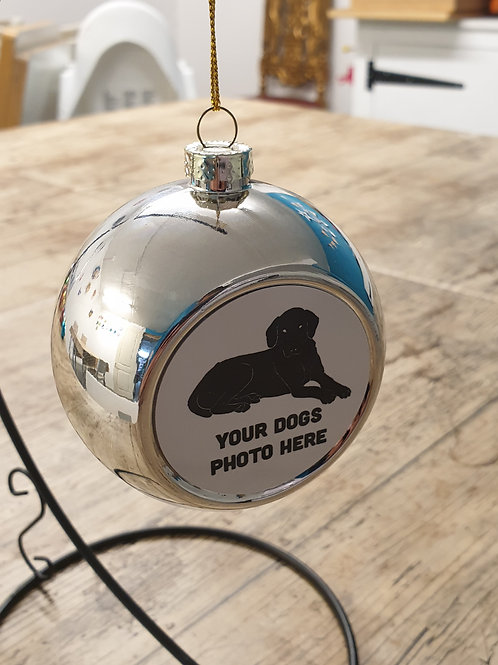 Photo of your dog Christmas bauble