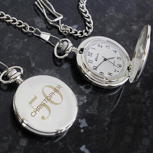 Personalised Birthday Big Age Pocket Fob Watch (PMC)
