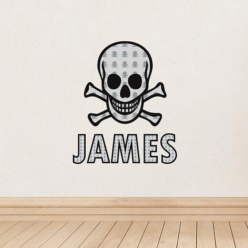 Personalised Skull & Bones Wall Art (PMC)