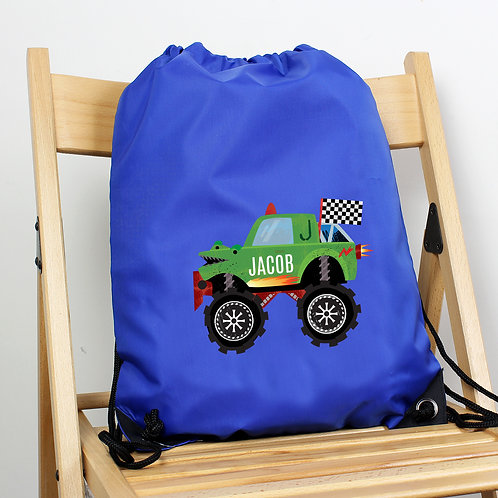 Personalised Monster Truck Blue Kit Bag (PMC)