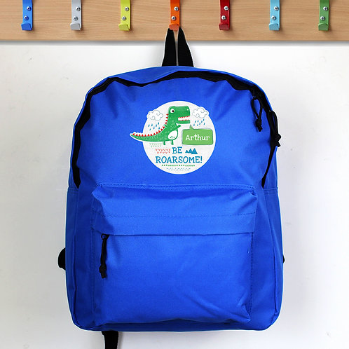 Personalised 'Be Roarsome' Dinosaur Backpack (PMC)