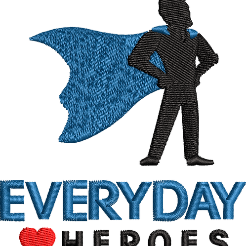 Keyworker Male Polo (SUPER HERO BLUE CAPE EVERY DAY HEART HEROES)