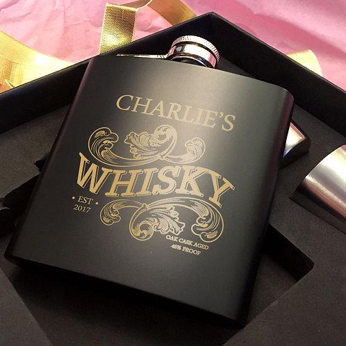 Whisky Hip Flask Gift Set