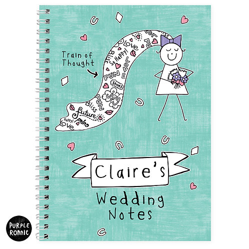 Personalised Purple Ronnie Bride A5 Notebook (PMC)