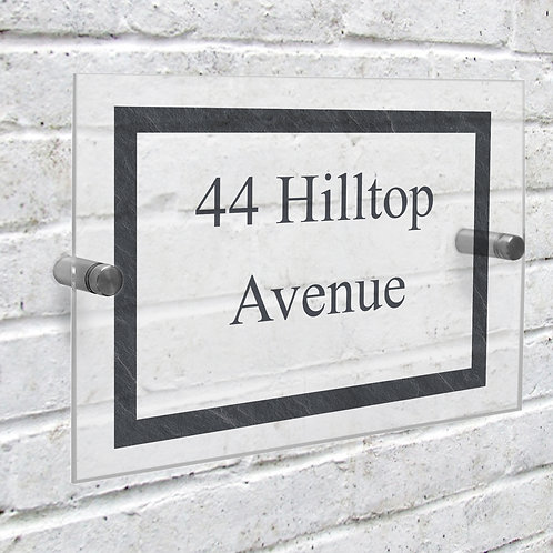Personalised Slate Effect Acrylic House Sign (PMC)