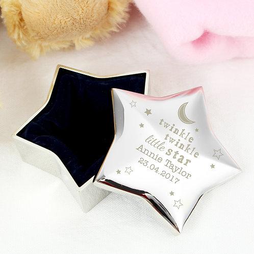 Personalised Twinkle Twinkle Star Trinket Box (PMC)