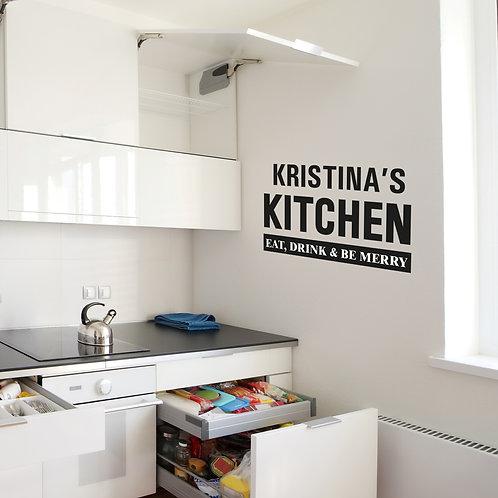 Personalised Kitchen Wall Art (PMC)