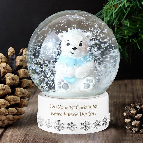 Personalised Polar Bear Snow Globe (PMC)