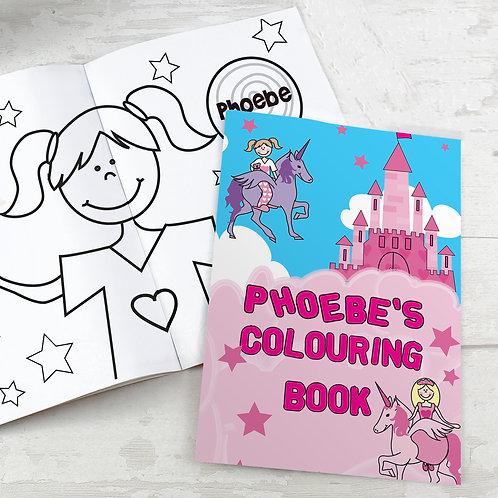 Personalised Princess & Unicorn Colouring Book (PMC)