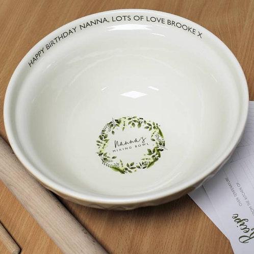 Floral Mixing Bowl