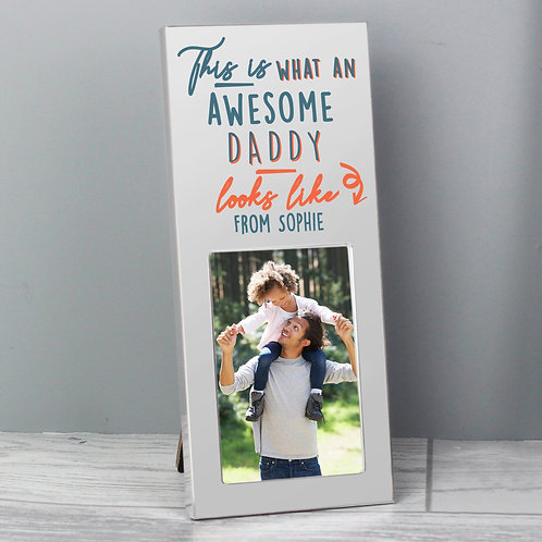 Personalised This Is What Awesome Looks Like Silver 2x3 Photo Frame (PMC)