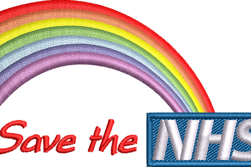 Keyworker Male Polo (RAINBOW NHS WITH SAVE THE NHS INLINE)