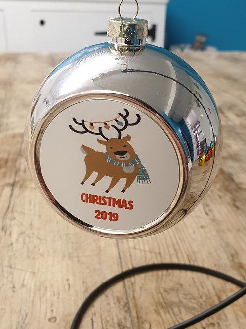 Reindeer Christmas 2019 bauble