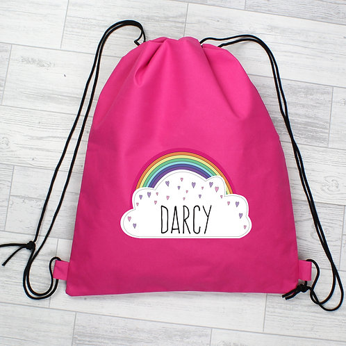 Personalised Rainbow Pink Swim & Kit Bag (PMC)