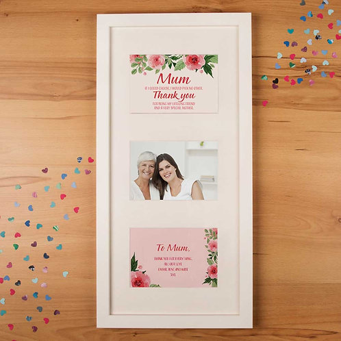 Floral Mothers Day Print 3 Aperture Frame