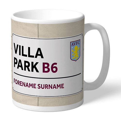 Aston Villa FC Street Sign Mug (PMC)