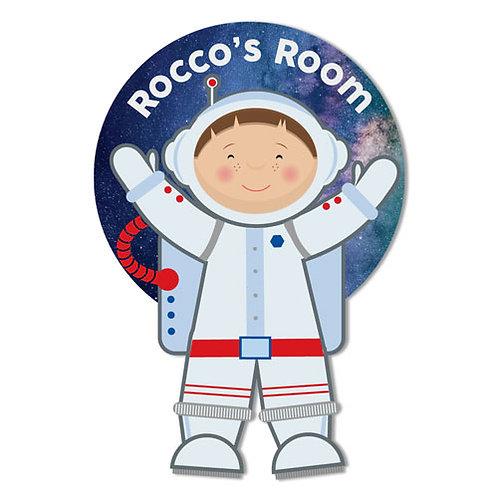 Astronaut Personalised Door Plaque (PTG)