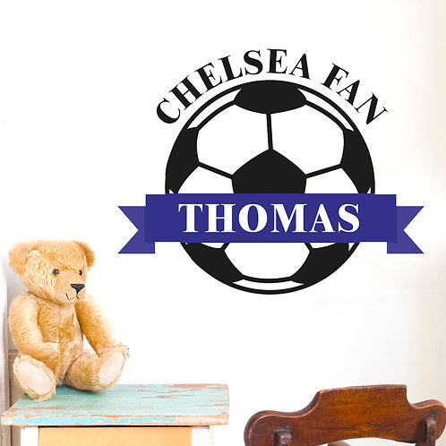 Personalised Blue Football Wall Art (PMC)