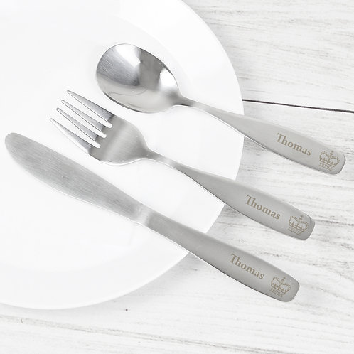 Personalised 3 Piece Prince Cutlery Set (PMC)