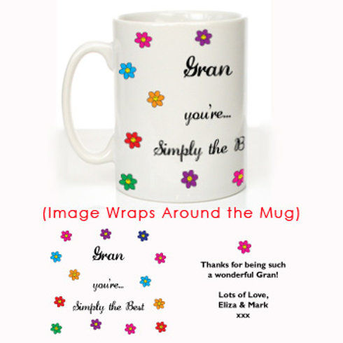 Simply the Best Gran: Personalised Mug