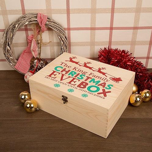 Family Christmas Eve Box Sleigh Design