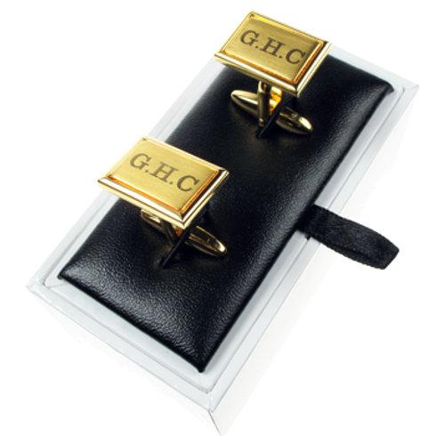 Brushed Golden Cufflinks