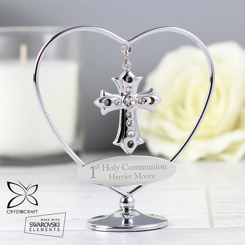 Personalised 1st Holy Communion Crystocraft Cross (PMC)