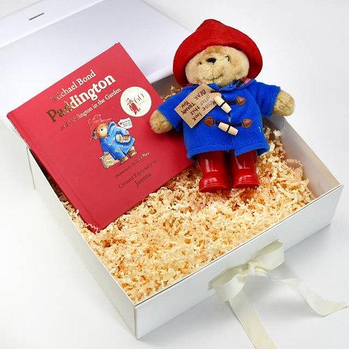 Personalised Paddington Bear Story Book & Plush toy gift set