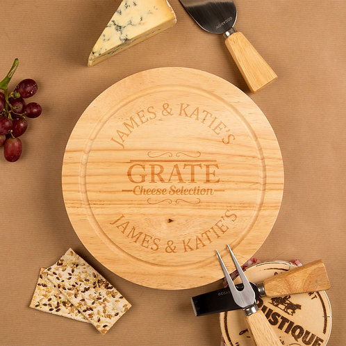 Grate Selection Round Cheeseboard