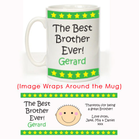 The Best Brother Ever: Personalised Mug