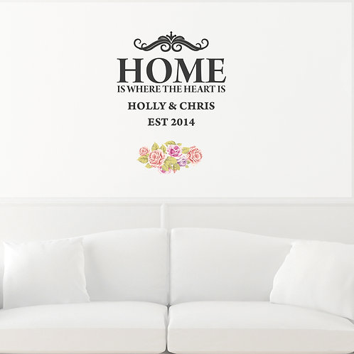 Personalised Shabby Chic Wall Art (PMC)