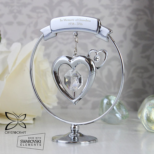 Personalised Crystocraft Heart Ornament (PMC)