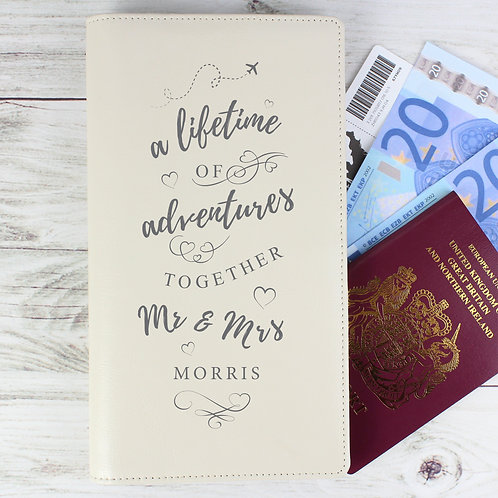 Personalised A Lifetime Of... Travel Document Holder (PMC)