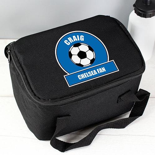 Personalised Dark Blue Football Fan Lunch Bag (PMC)