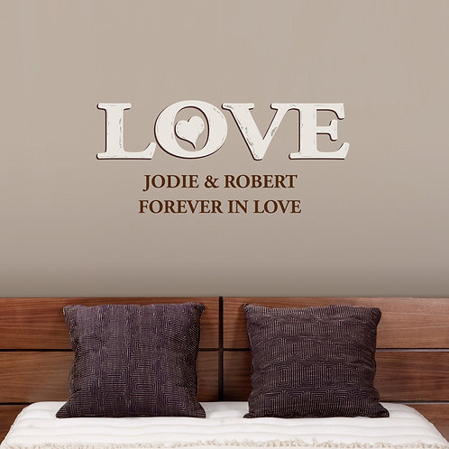 Personalised Love Wall Art (PMC)