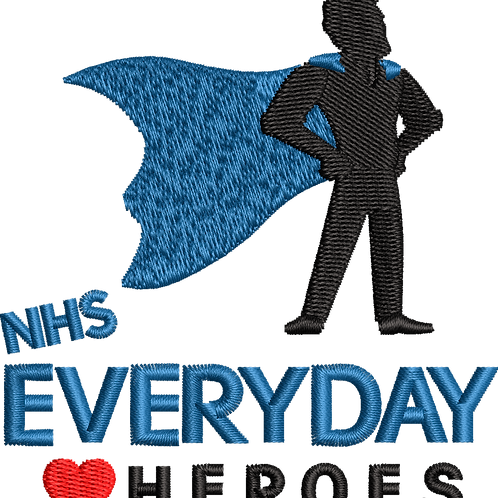 Keyworker Male Polo (SUPER HERO BLUE CAPE NHS EVERY DAY HEART HEROES)
