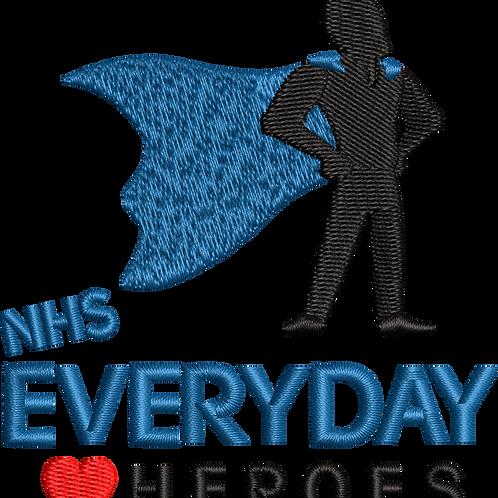 Keyworker female Polo (SUPER HERO BLUE CAPE NHS EVERY DAY HEART HEROES)