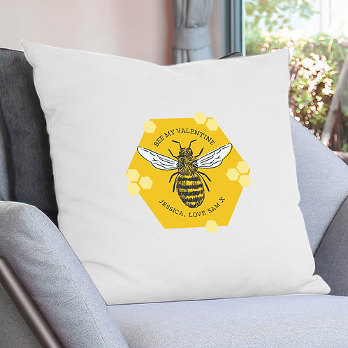 Personalised Bee Cushion Cover (PMC)