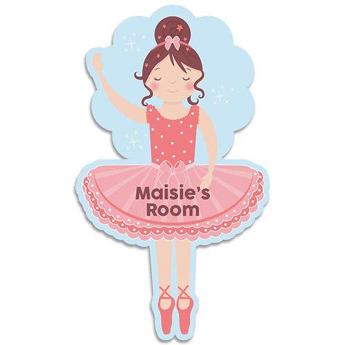 Ballerina Bedroom Door Plaque (PTG)