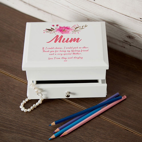 Lined Jewellery Box Gift Idea for Mum