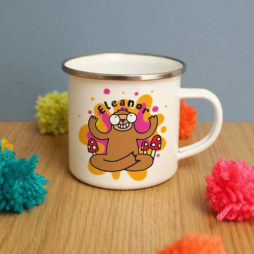 Groovy Sloth Enamel Mug