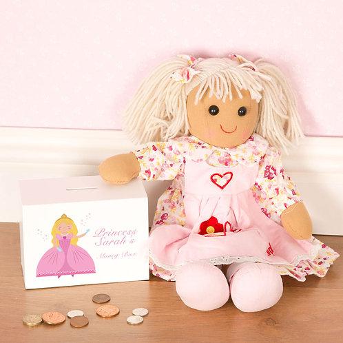 Princess Wooden Money Box for a little Girl (PTG)