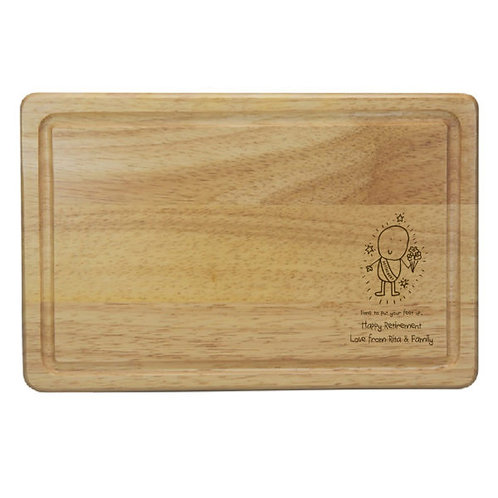 Chilli & Bubbles Retirement Rectangle Cheese Board