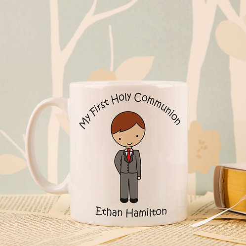First Holy Communion Mug: Boy Design