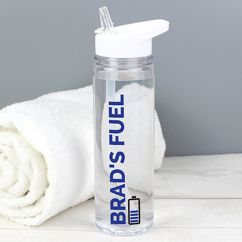 Personalised Blue Fuel Island Water Bottle (PMC)