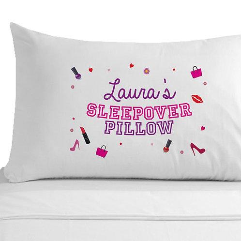 Personalised Girls Sleepover Pillowcase
