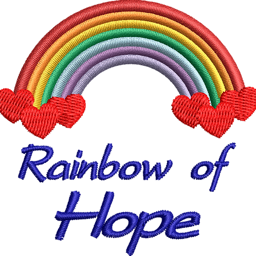 Keyworker Male Polo (RAINBOW OF HOPE WITH WRITING BELOW THREE HEARTS)