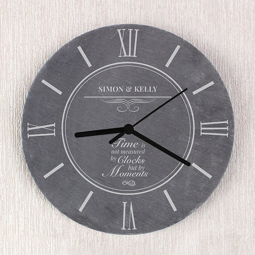 Personalised Moments Slate Clock (PMC)
