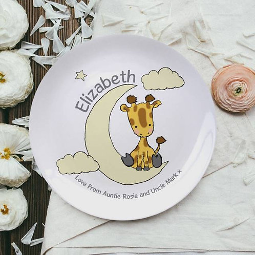 Sweet Dreams Giraffe 8? Bone China Plate