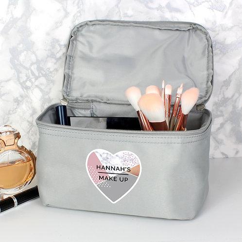 Personalised Geometric Grey Vanity Bag (PMC)